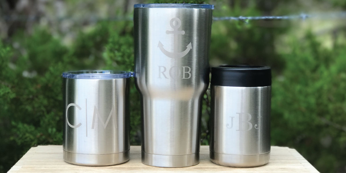 Personalized Laser Engraving in Brushed Silver