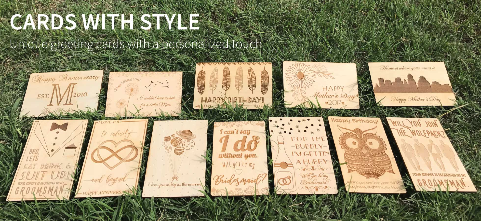 Create Personalized Laser Etched Greeting Cards